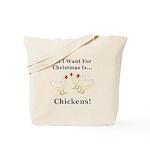 Christmas Chickens Tote Bag