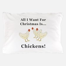 Christmas Chickens Pillow Case
