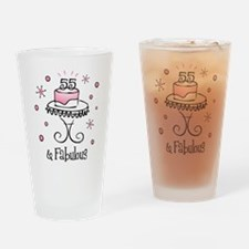 Fabulous 55 Drinking Glass