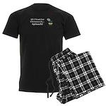 Christmas Spinach Men's Dark Pajamas