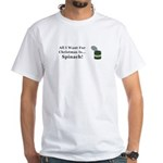 Christmas Spinach White T-Shirt