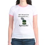 Christmas Spinach Jr. Ringer T-Shirt