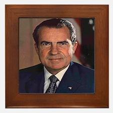 President Nixon Framed Tile