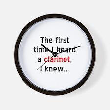 first clarinet Wall Clock