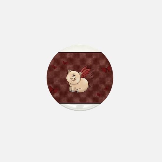 Unique Teacup pig Mini Button