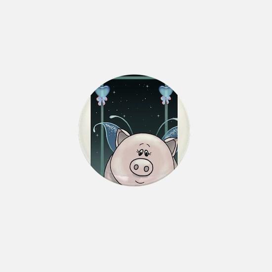 Piggy Portrait 1 Mini Button