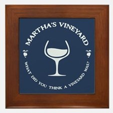 Martha's Wine Yard Framed Tile