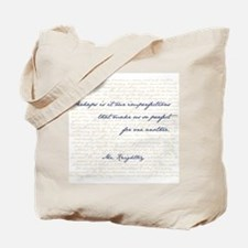 Mr. Knightley/Emma Quote Tote Bag