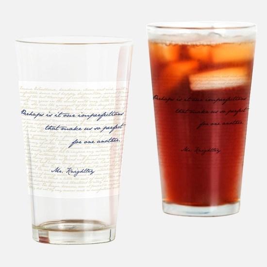 Mr. Knightley/Emma Quote Drinking Glass