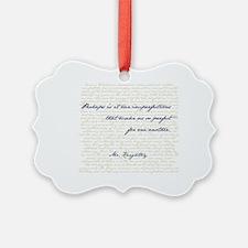 Mr. Knightley/Emma Quote Ornament