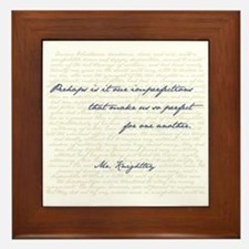 Mr. Knightley/Emma Quote Framed Tile