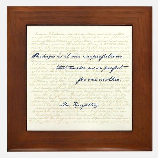Mr. Knightley/Emma Quote Framed Tile