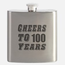 Cheers To 100 Flask