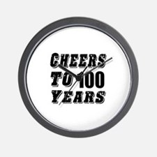 Cheers To 100 Wall Clock