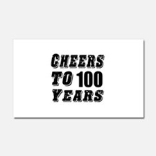 Cheers To 100 Car Magnet 20 x 12
