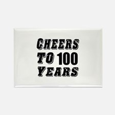 Cheers To 100 Rectangle Magnet
