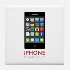 iPhone Therefore I Am Tile Coaster