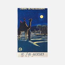 Algeria, Camel, Vintage Travel Poster Area Rug
