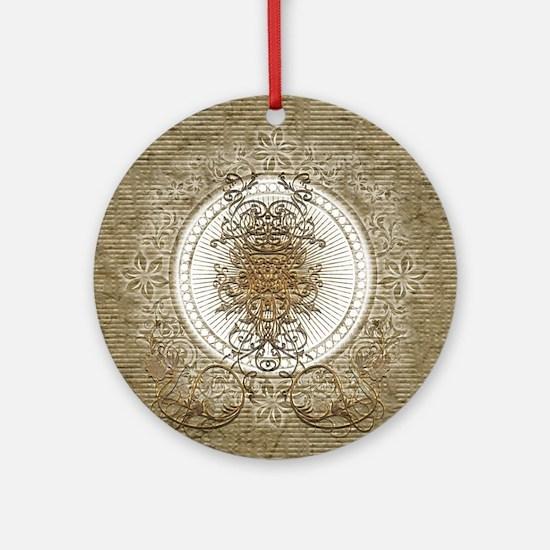Wonderful decorative design Round Ornament