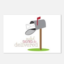 Sealed Signed & Delivered Postcards (Package of 8)