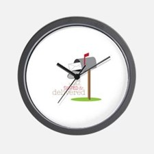 Sealed Signed & Delivered Wall Clock