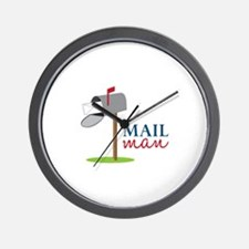 Mail Man Wall Clock