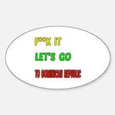 Let's go to Dominican Republic Decal
