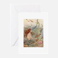 Cute Little mermaid Greeting Cards (Pk of 20)
