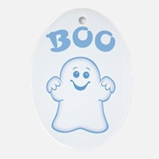 Cute Ghost Oval Ornament