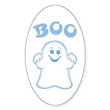 Cute Ghost Oval Decal