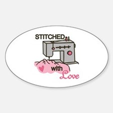 Stitched With Love Decal