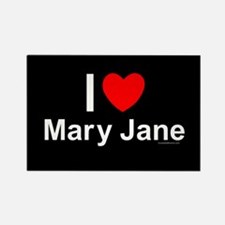 Mary Jane Rectangle Magnet
