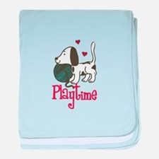 Puppy Playtime baby blanket