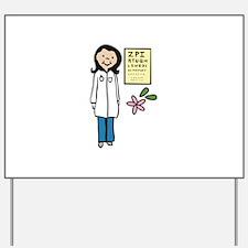 Female Doctor Yard Sign