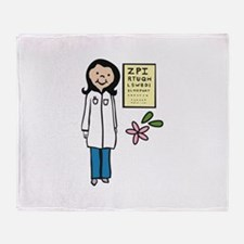 Female Doctor Throw Blanket