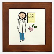 Female Doctor Framed Tile