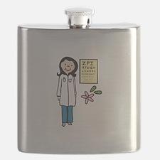 Female Doctor Flask