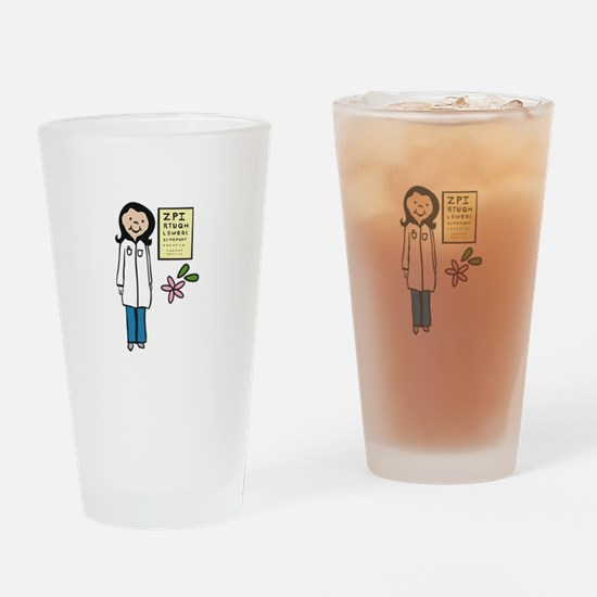 Female Doctor Drinking Glass