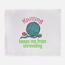 Knitting Therapy Throw Blanket