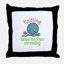Knitting Therapy Throw Pillow