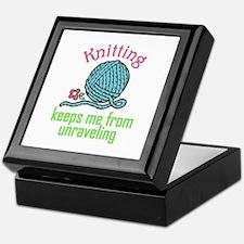 Knitting Therapy Keepsake Box