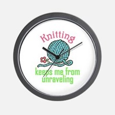 Knitting Therapy Wall Clock