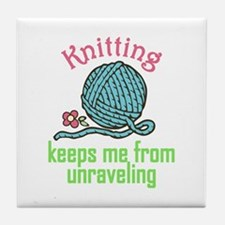 Knitting Therapy Tile Coaster