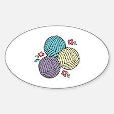 3 Yarn Balls Decal