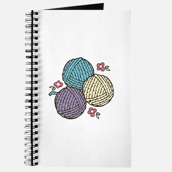 3 Yarn Balls Journal