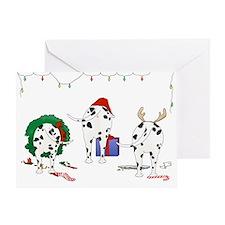 Dalmatian Christmas Greeting Card