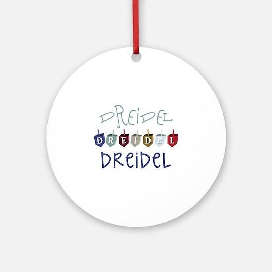 Dreidel Toy Round Ornament