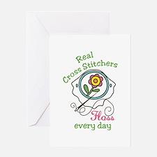 Cross Stitcher Greeting Cards