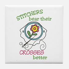 Cross Stitcher Tile Coaster