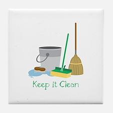 Keep it Clean Tile Coaster